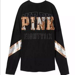 PINK Victoria's Secret Pants - Victoria's Secret Pink Sequin Bling 2 Set Size L